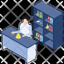Lab Attendant Lab Experiment Laboratory Test Icon