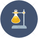 Lab Flask And Stand Research Experiment Icon