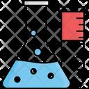 Chemical Reaction Drug Reaction Lab Flasks Icon