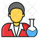 Scientist Lab Researcher Experimenter Icon