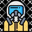 Lab Suit Suit Biohazard Icon