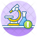Medical Research Lab Test Microscope Icon