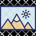Label Landscape Photo Icon