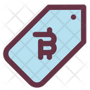 Bitcoin Label Price Icon