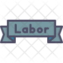 Label Day Banner Icon