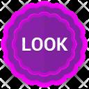 Label Look Sticker Icon