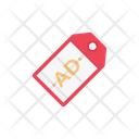 Ad Label Sticker Icon