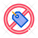 Label Crossed Out Icon