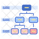 Labeled Hierarchy Icon