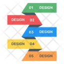 Labels Chart Labels Graph Modern Infographic Icon
