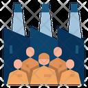 Labor Market Economy Factory Icon