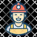 Worker Miner Labour Icon
