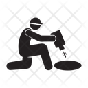 Labor Hole Man Icon