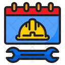 Calendar Worker Wrench Icon