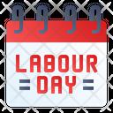 Labor Day Calendar May Icon