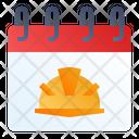 Labor Day Calendar Worker Icon