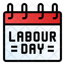 Labor Day Calendar May Icon