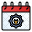 Labor Day Calendar Gear Icon