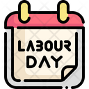 Labor Day Time And Date Calendar Icon