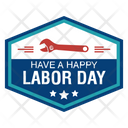 Labor Day Badge Icon