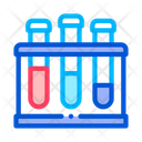 Flask Pathogen Analysis Icon