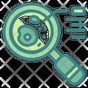 Laboratory Research Magnifier Search Icon