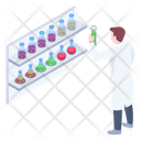 Laboratory Vessels Chemicals Lab Assistant Icon