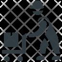 Laborer Hand Truck Icon