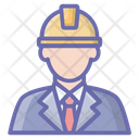 Labour Worker Engineer Icon