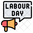 Labour Day Advertising Megaphone Icon
