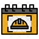 Labour Day Calenday Time And Date Icon