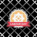 Labourday Badge Label Icon