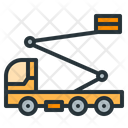 Ladder Truck Heavy Machinery Vehicle Icon