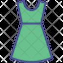 Ladies Dress Clothing Flare Dress Icon