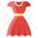 Ladies Frock Woman Dress Attire Icon