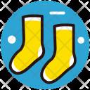 Socks Colorful Footwear Icon
