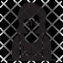 Lady User Avatar Icon