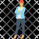 Lady Worker Businesswomen Icon