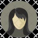 Lady Female Hair Icon
