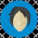 Lady Face Avatar Icon