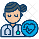 Doctor Cardiologist Woman Icon