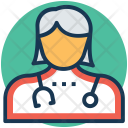Lady Doctor Surgeon Icon