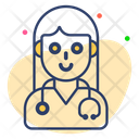 Lady Doctor Icon