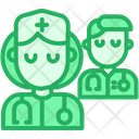 Lady Doctor Team Nurse Icon