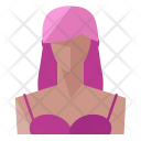 Gangster Woman Lady Icon