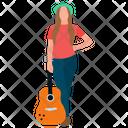 Lady Guitarist Icon