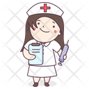 Nurse Female Attendant Medical Assistant Icon