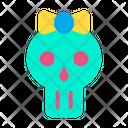 Skull Lady Skull Mask Festival Icon