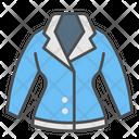 Winter Jacket Lady Icon