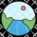 Seaview Seaside Lake Icon